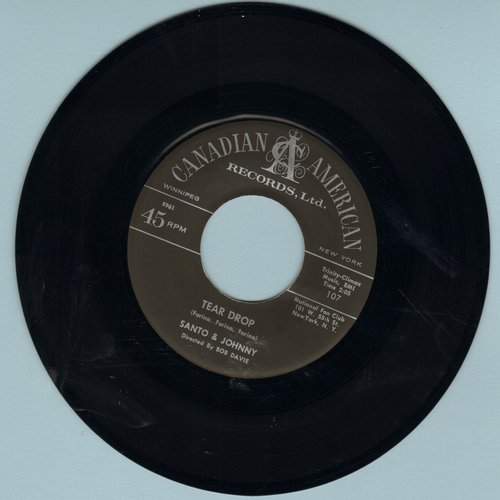Santo & Johnny - Tear Drop/The Long Walk Home (first issue) - VG7/ - 45 rpm Records