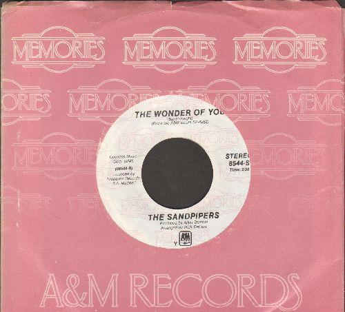 Sandpipers - Come Saturday Morning/The Wonder Of You (double-hit re-issue with A&M company sleeve) - NM9/ - 45 rpm Records