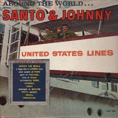 Santo & Johnny - Around The World: Istanbul, Brazil, Poor People Of Paris, Arrivederci Roma, Manhatten, Tokyo Twiligh (vinyl MONO LP record) - EX8/NM9 - LP Records