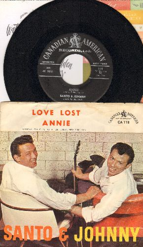 Santo & Johnny - Love Lost/Annie (with picture sleeve) - NM9/VG7 - 45 rpm Records