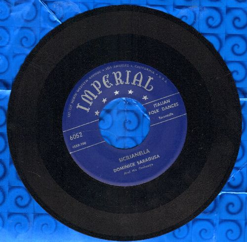 Saragusa, Dominick & His Orchestra - Sicilianella/Tesoro Mio - EX8/ - 45 rpm Records