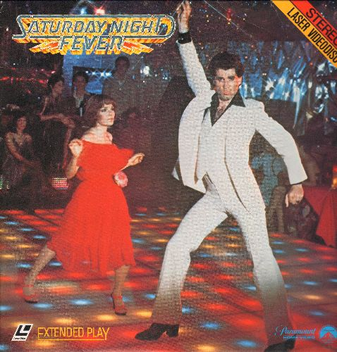 Saturday Night Fever - Saturday Night Fever - LASER DISC version of the Classic featuring John Travolta and the legendary Bee Gees Disco Soundtrack. - NM9/EX8 - Laser Discs