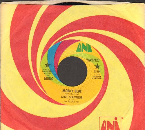 Scrivenor, Gove - Mobile Blue/Goin' To The Country (DJ advance pressing with Uni company sleeve) - NM9/ - 45 rpm Records