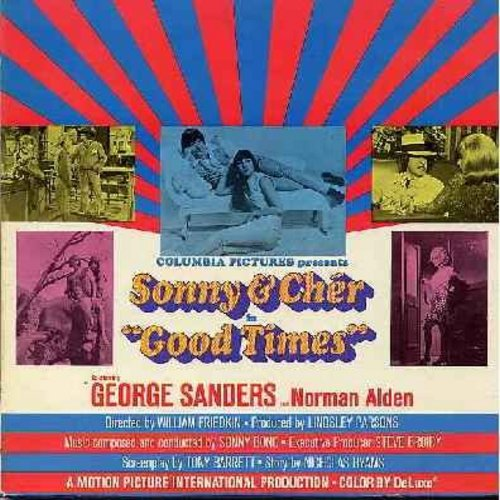 Sonny & Cher - Sonny & Cher in Good Times: Original Movie Sound Track Album (vinyl STEREO LP record, gate-fold cover) - EX8/EX8 - LP Records