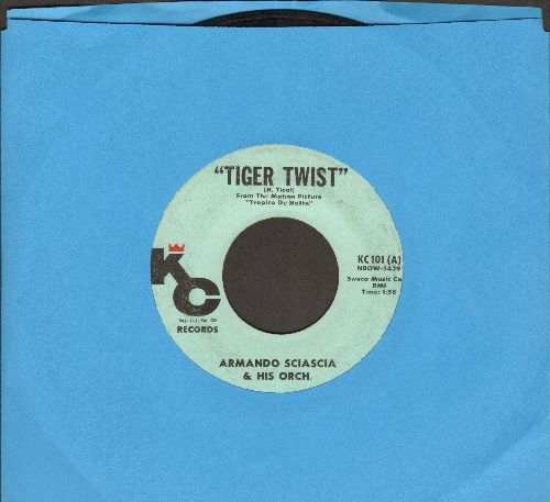 Sciascia, Armando/Orch. - Tiger Twist (FANTASTIC JAZZ NOVELTY!)/Bi-A-Bi Chuca  - VG7/ - 45 rpm Records