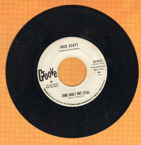 Scott, Jack - Thou Shalt Not Steal/I Prayed For An Angel (DJ advance pressing) - VG7/ - 45 rpm Records