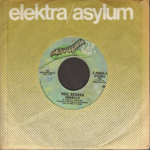 Sedaka, Neil - Amarillo/The Leaving Game (with Elektra company sleeve) - EX8/ - 45 rpm Records