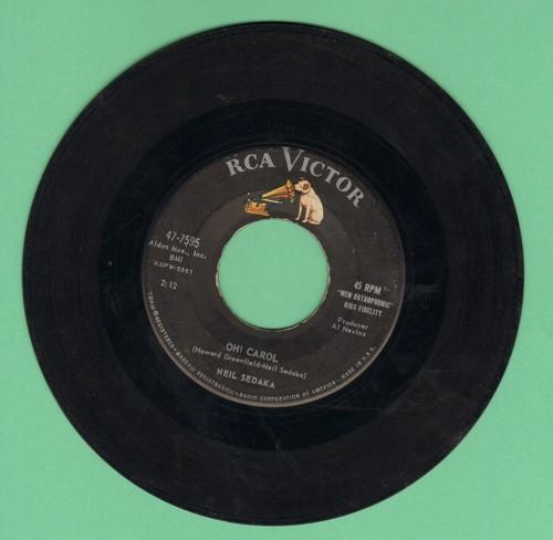 Sedaka, Neil - Oh! Carol/One Way Ticket  - VG6/ - 45 rpm Records