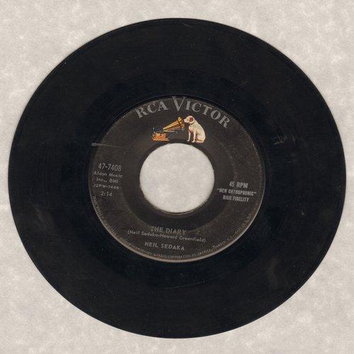 Sedaka, Neil - The Diary/No Vacancy (with RCA company sleeve) - VG7/ - 45 rpm Records