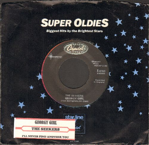 Seekers - Georgy Girl (Hey There Georgy Girl!)(from film 'Georgy Girl')/I'll Never Find Another You (double-hit re-issue with company sleeve and juke box label) - NM9/ - 45 rpm Records
