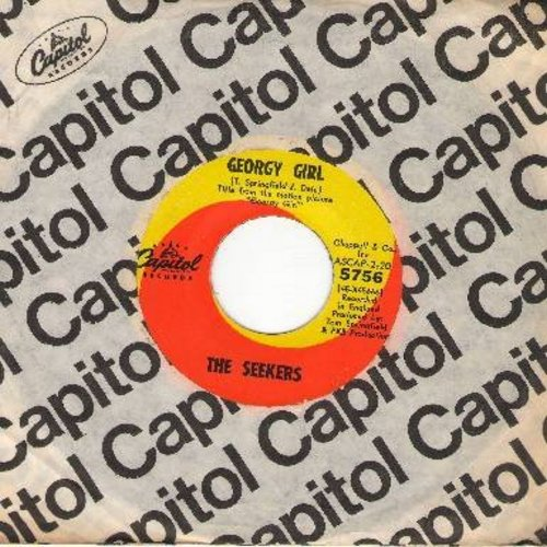 Seekers - Georgy Girl (Hey There Georgy Girl!)/When The Stars Begin To Fall (from film 'Georgy Girl') (with Capitol company sleeve) - M10/ - 45 rpm Records