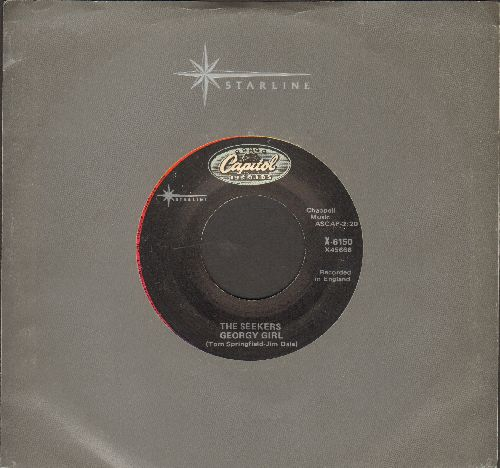 Seekers - Georgy Girl (Hey There Georgy Girl!)(from film 'Georgy Girl')/I'll Never Find Another You (double-hit re-issue with company sleeve) - NM9/ - 45 rpm Records