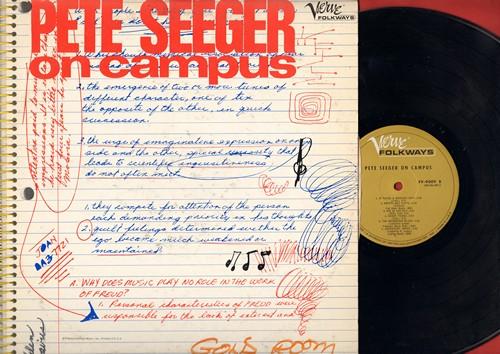 Seeger, Pete - Pete Seeger On Campus: Kumbaya, Kisses Sweeter Than Wine, The Burgeois Blues, Goodnight Irene (vinyl LP record) - NM9/VG7 - LP Records
