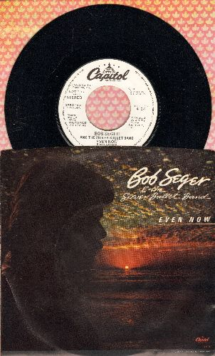 Seger, Bob & The Silver Bullet Band - Even Now (double-A-sided PROMO pressing with LONG and SHORT version, with picture sleeve) - NM9/VG7 - 45 rpm Records