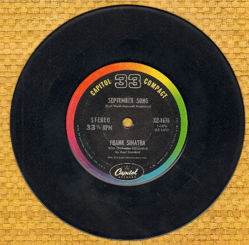 Sinatra, Frank - September Song/When The World Was Young (RARE 7 inch 33rpm STEREO record) - EX8/ - 45 rpm Records