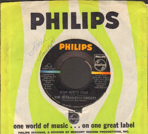 Serendipity Singers - High North Star/Little Brown Jug (with Philips company sleeve) (bb) - NM9/ - 45 rpm Records