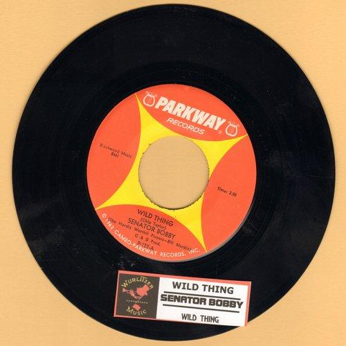 Senator Bobby - Wild Thing/Wild Thing (by Senator Everett McKinley on flip side) - Hilarious Bobby Kennedy Spoof!  (with juke box label) - EX8/ - 45 rpm Records
