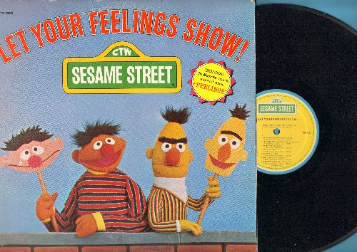 Sesame Street - Let Your Feelings Show!: Fear, Sad Happy, Grouchy, It's Funny (vinyl STEREO LP record) - VG7/VG7 - LP Records