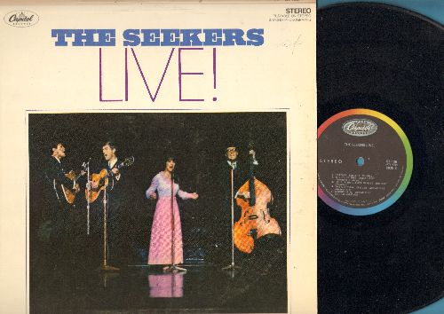 Seekers - LIVE!: Georgy Girl, I'll Never Find Another You, A World Of Our Own, We Shall Not Be Moved (vinyl STEREO LP record) - EX8/EX8 - LP Records