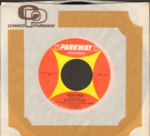 Senator Bobby - Wild Thing/Wild Thing (by Senator Everett McKinley on flip side) - Hilarious Bobby Kennedy Spoof!  (MINT condition with RARE Cameo Parkway company sleeve) - NM9/ - 45 rpm Records