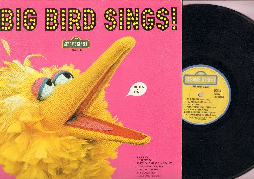 Sesame Street - Big Bird Sings: Everyone Likes Ice Cream, Just Three Colors, No Matter What Your Language, Big Bird's Poem (vinyl STEREO LP record) - EX8/EX8 - LP Records