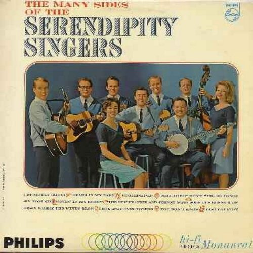 Serendipity Singers - The Many Sides Of The Serendipity Singers: Beans In My Ears, Hi Lili Hi Lo, The New Frankie And Johnny Song, Six Foot Six (vinyl MONO LP record) - NM9/EX8 - LP Records