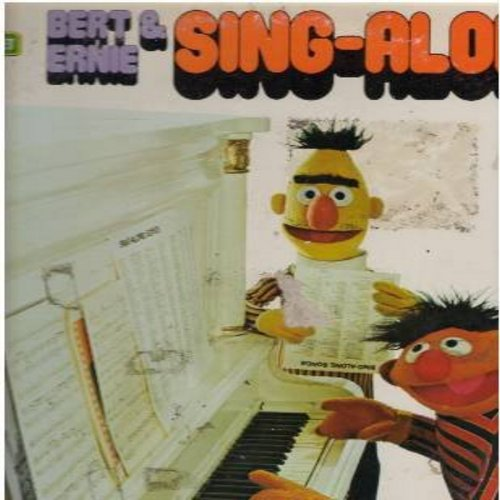Sesame Street - Bert & Ernie Sing-A-Long: I Refuse To Sing, I've Been Working On The Railroad, Oscar Don't Allow, Peanuts, C Is For Cookie, Everybody Likes Ice Cream (vinyl STEREO LP record) - VG7/VG6 - LP Records