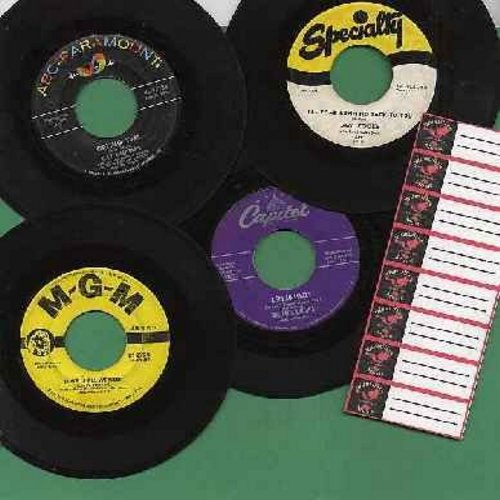 Charles, Ray, Sam Cooke, Tommy Edwards, Four Knights - Vintage Doo-Wop 45s 4-Pack - Ideal for Juke Box Enthusiasts! Original first issue 45s, all in very good or better condition, shipped in plain white paper sleeves for safe storage, along with juke box