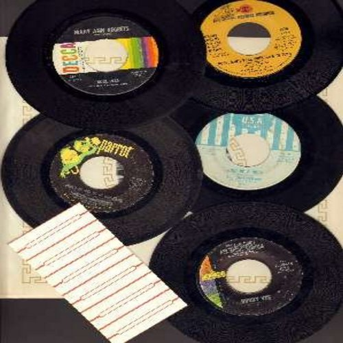 Buckinghams, Engelbert Humperdinck, Burl Ives, Kenny Rogers & The First Edition, Bobby Vee - Vintage Heartbreak Songs 5-Pack: 5 original 45rpm records from the 1960s, all