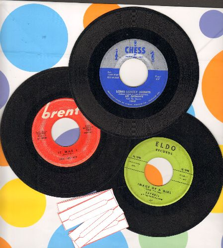 Andrews, Lee, Safaris, Skip & Flip - Doo-Wop 3-Pack includes HitsImage Of A Girl, It Was I and Long Lonely Nights. First pressing with 4 blank juke box labels. GREAT for a juke box! - VG7/ - 45 rpm Records