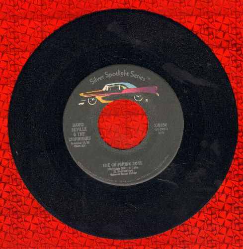 Chipmunks - The Chipmunk Song/Ragtime Cowboy Joe (double-hit re-issue) - NM9/ - 45 rpm Records