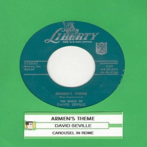 Seville, David - Armen's Theme/Carousel In Rome (with juke box label) - EX8/ - 45 rpm Records