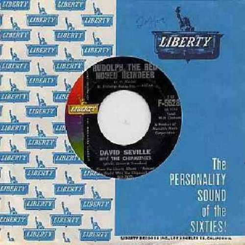 Chipmunks - Rudolph The Red Nosed Reindeer/Spain (with Liberty company sleeve) - EX8/ - 45 rpm Records