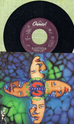 S-Express - Superfly Guy/Funky Killer (with picture sleeve) - M10/NM9 - 45 rpm Records