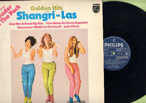 Shangri-Las - Golden Hits Of The Shangri-Las: Leader Of The Pack, Remember (Walking In The Sand), Out In The Streets, Give Him A Great Big Kiss (vinyl STEREO LP record, British Pressing) - NM9/VG7 - LP Records