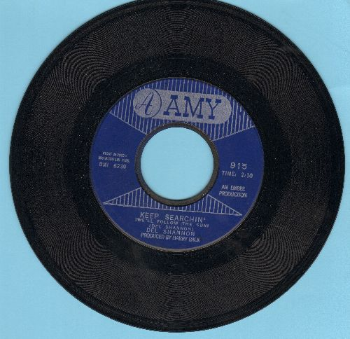 Shannon, Del - Keep Searchin'/Broken Promises  - VG7/ - 45 rpm Records