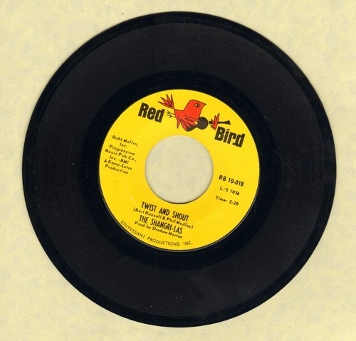 Shangri-Las - Give Him A Great Big Kiss/Twist And Shout (FANTASTIC double-hitter!) (bb) - EX8/ - 45 rpm Records