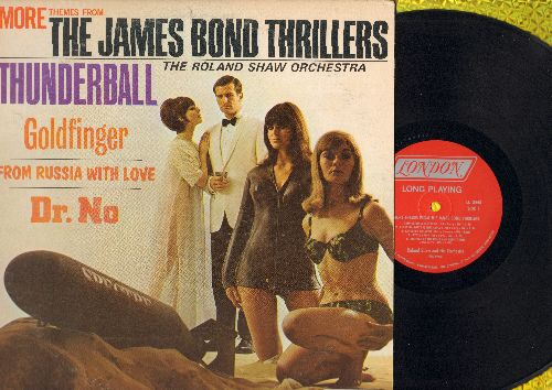 Shaw, Roland Orchestra - More Themes From The James Bond Thrillers Thunderball, Goldfinger, Dr. No, From Russia With Love (vinyl MONO LP record) - NM9/VG7 - LP Records
