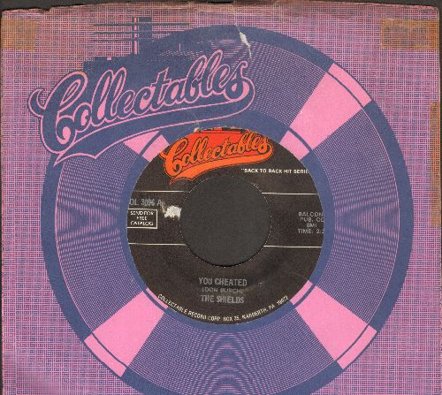 Shields - You Cheated/I Wonder (by The Pentagons on flip-side) (double-hit re-issue) (sol) - EX8/ - 45 rpm Records