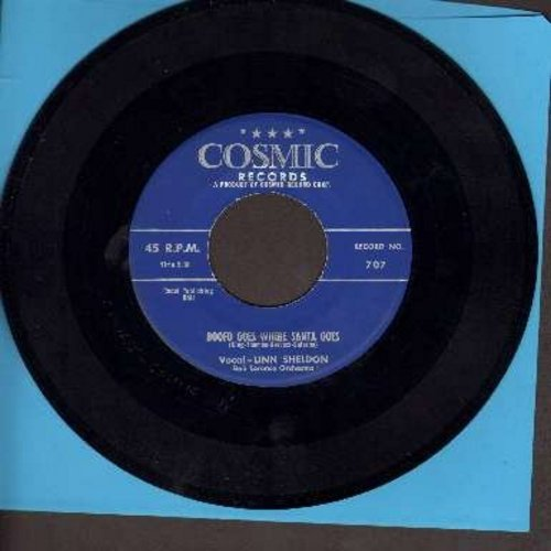 Sheldon, Linn - Boofo Goes Where Santa Goes/Rabbits Have A Christmas (From Children's TV Show Barnaby) (with blank Christmas themed juke box label) - EX8/ - 45 rpm Records