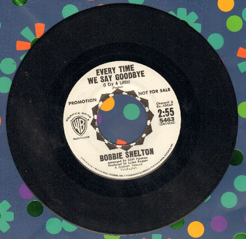 Shelton, Bobbie - Juke Box Blue Boy/Everytime We Say Goodbye (I Cry A Little) (DJ advance copy) - NM9/ - 45 rpm Records