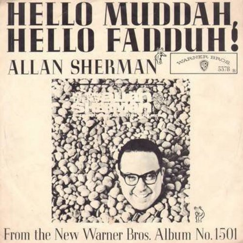Sherman, Allan - Hello Mudduh, Hello Fadduh! (A Letter From Camp)/(Rag Mop) Rat Fink (with picture sleeve) - NM9/EX8 - 45 rpm Records