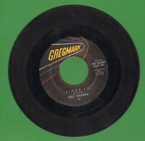 Sharpe, Ray - Linda Lu/The Bus Song (RARE alternate flip-side!) - VG7/ - 45 rpm Records