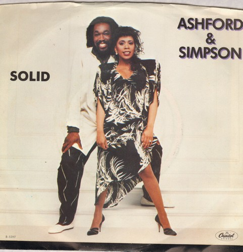 Ashford & Simpson - Solid/Solid (Dub Version) (with picture sleeve) - EX8/VG7 - 45 rpm Records