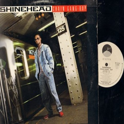 Shinehead - Chain Gang Rap (3:34 minutes Island Mix/4:38 minutes Dub Stylee/4:05 minutes Kicking Acappella (Rap Versions of the Sam Cooke Classic, 12 inch Maxi single with picture cover, DJ advance pressing) - M10/VG7 - LP Records