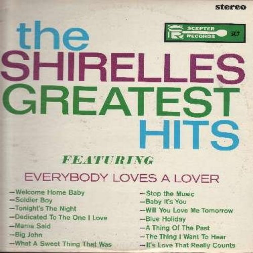 Shirelles - Greatest Hits: Everybody Loves A Lover, Soldier Boy, Tonight's The Night, Mama Said, Dedicated To The One I Love, Baby It's You, Will You Love Me Tomorrow (vinyl STEREO LP record) - NM9/VG7 - LP Records