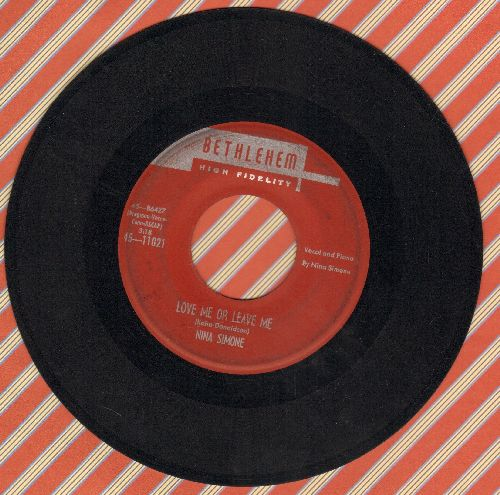 Simone, Nina - Love Me Or Leave Me/I Love You, Porgy - VG7/ - 45 rpm Records