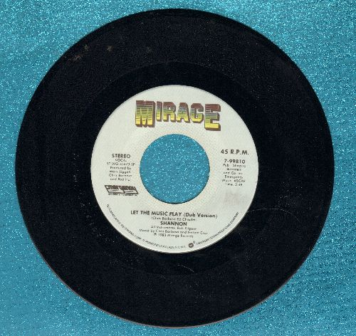 Shannon - Let The Music Play (4:38 minute version + 3:48 minute version)(MINT condition!) - EX8/ - 45 rpm Records