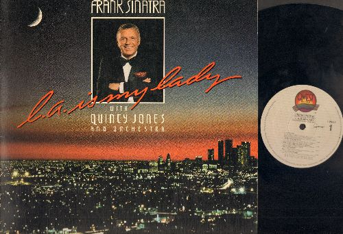 Sinatra, Frank & Quincy Jones & Orchestra - L. A. Is My Lady: Teach Me Tonight, Mack The Knife, Stormy Weather, Until The Real Thing Comes Along (vinyl LP record, gate-fold cover) - EX8/VG7 - LP Records