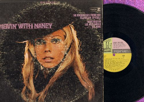 Sinatra, Nancy - Movin' With Nancy - The Sound Track from her Television Special! (with guests Dean Martin, Lee Hazelwood and a close relative) (vinyl LP record): Includes Some Velvet Morning, Friday's Child, Jackson, Who Will Buy, I Gotta get Out Of This